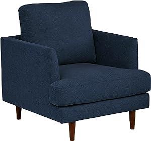 "Amazon Brand – Rivet Goodwin Modern Living Room Accent Chair, 32.3""W x 35.8""H, Navy Blue"