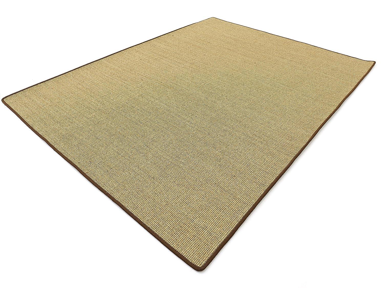 Salsa Design HEVO® Sisal Teppich Honig mit brauner Kettelkante 150x200 cm