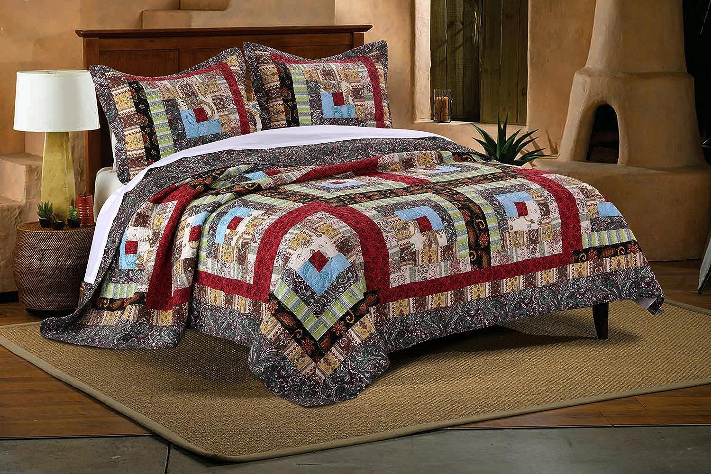 Amazon.com: Greenland Home 3 Piece Colorado Lodge Quilt Set, King ... : colorado quilt - Adamdwight.com