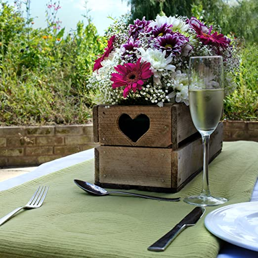 Caja de madera para flores, ideal para ventanas y mesa de boda ...