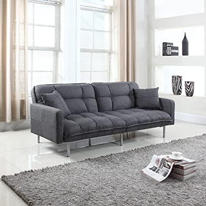 Amazon.com: Divano Roma Furniture Collection - Modern Plush Tufted ...