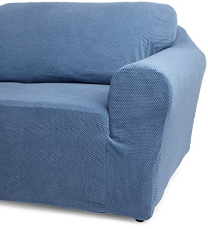 Amazoncom Classic Slipcovers 60 72 Inch Loveseat Cover Blue Home