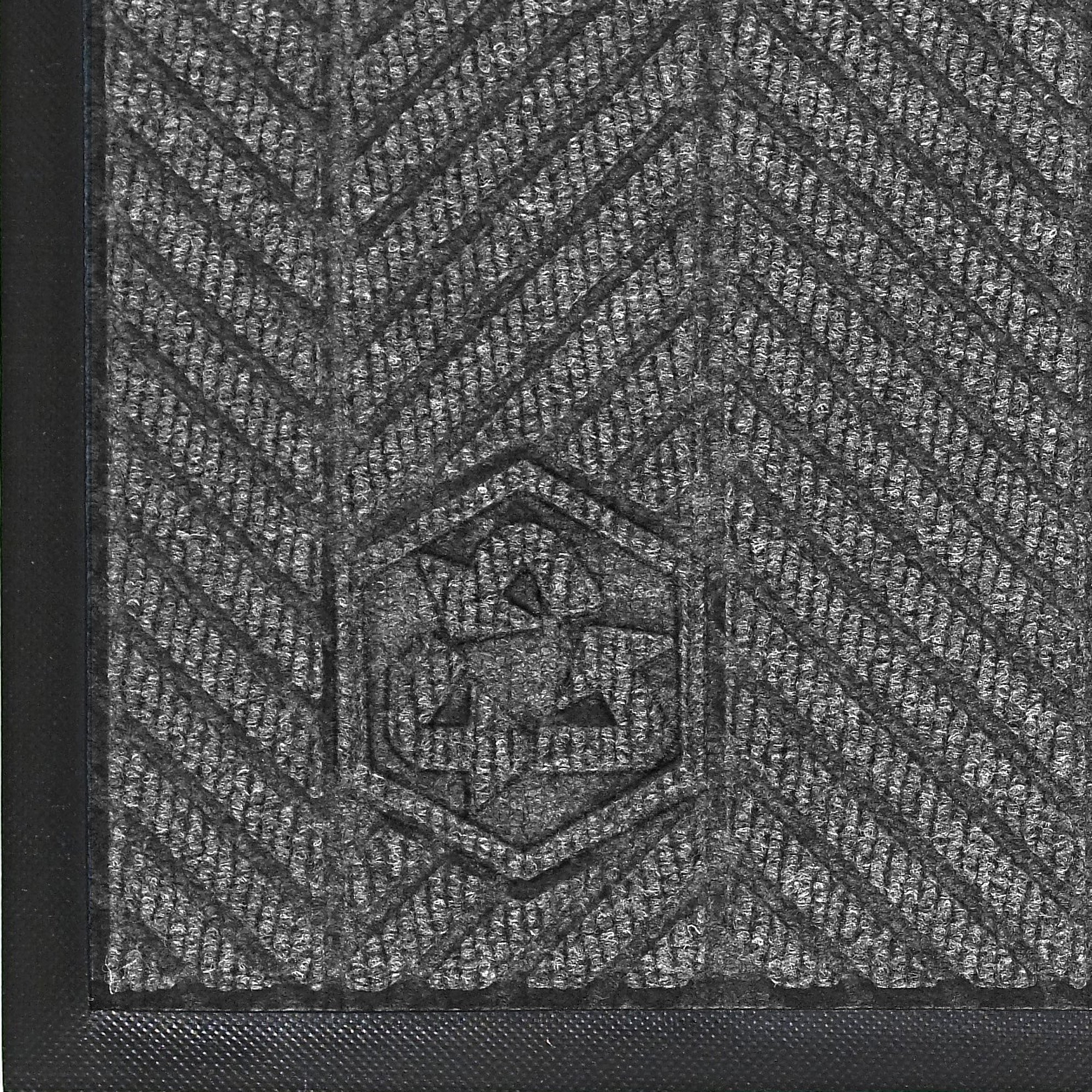 M+A Matting 2240 Waterhog Classic ECO Elite PET Polyester Entrance Indoor Floor Mat, SBR Rubber Backing, 5' Length x 3' Width, 3/8'' Thick, Grey Ash