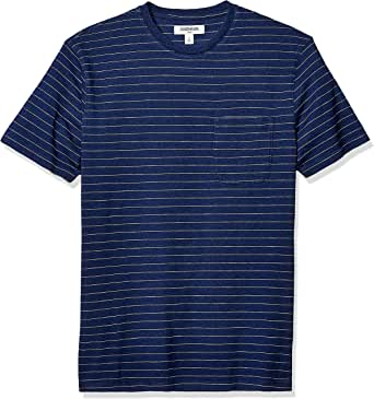 Goodthreads Men's Short-Sleeve Indigo Crewneck Pocket T-Shirt