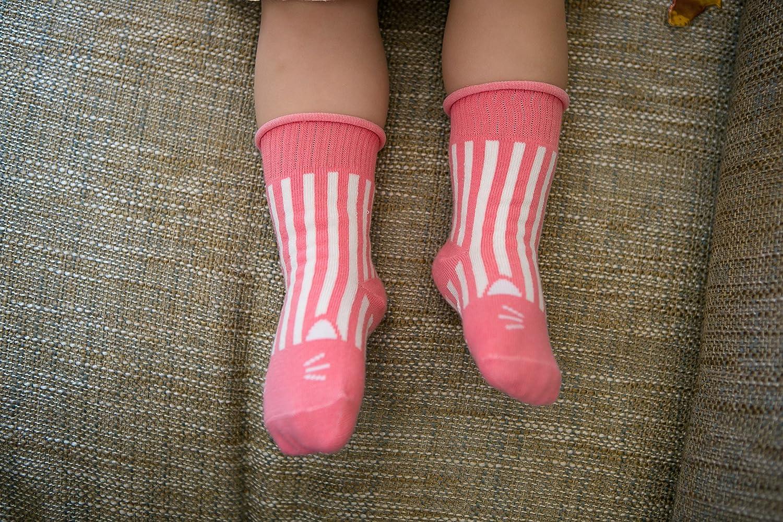 Eva/&Elvin by Vaenait Baby 3 Pairs Girls Anti-Skid Socks Good Noght Narsha Girl