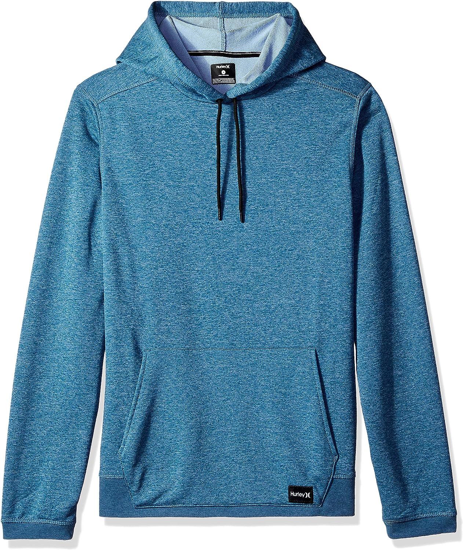 Hurley Mens Nike Dri-Fit Disperse Fleece Hoodie Blue Force////Work Blue XL