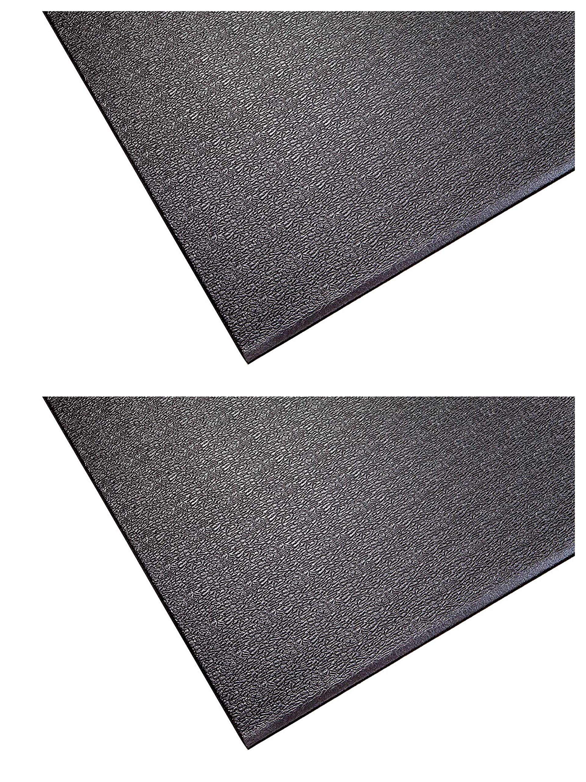SuperMats Heavy Duty Equipment Mat 20GS Made in U.S.A. for Indoor Cycles Exercise Upright Bikes and Steppers (2 Feet x 3 Feet 10 in) (24-Inch x 46-Inch) (60.96 cm x 116.84 cm) (Тwо Расk)