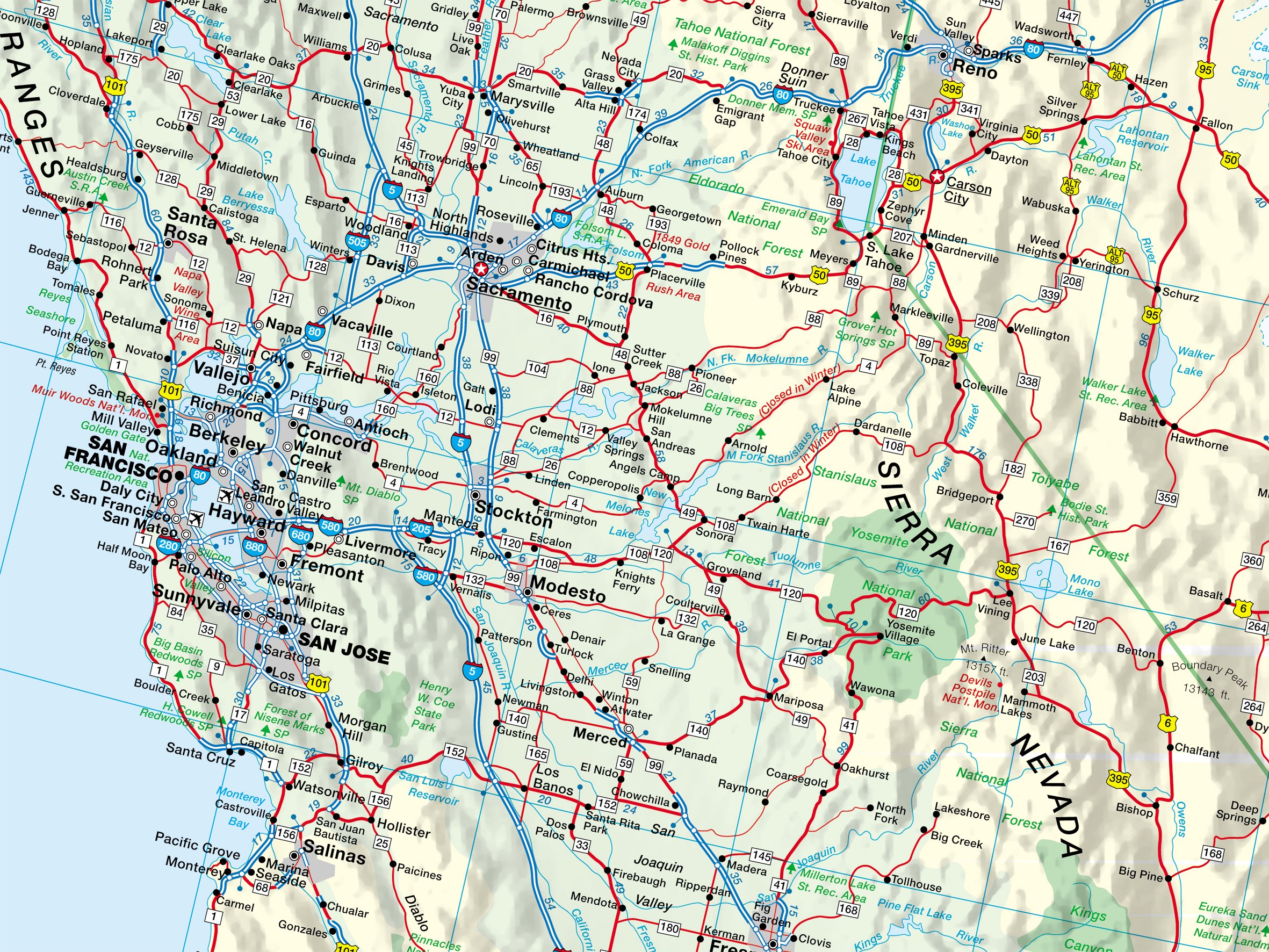 Usa West Busche Map Strassenkarte 1 2 2 Mio Busche Map