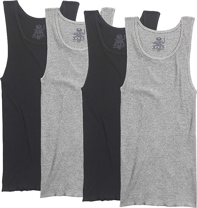 Fruit of the Loom - Pack de 4 camisetas de hombre sin mangas: Amazon.es: Ropa y accesorios