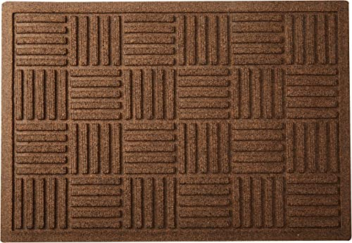 AquaShield Large Parquet Mat, 2 x 3 , Dark Brown