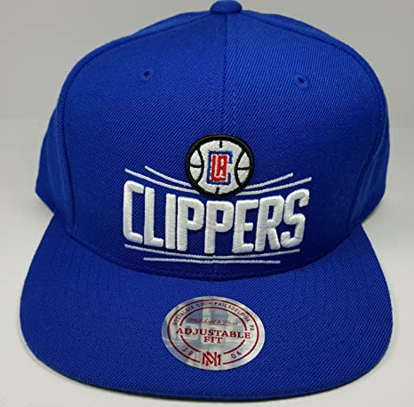 e18f3738cc1 Image Unavailable. Image not available for. Color  Mitchell   Ness Los  Angeles Clippers Blue Block HWC Vintage Solid Wool Adjustable Snapback Hat  NBA