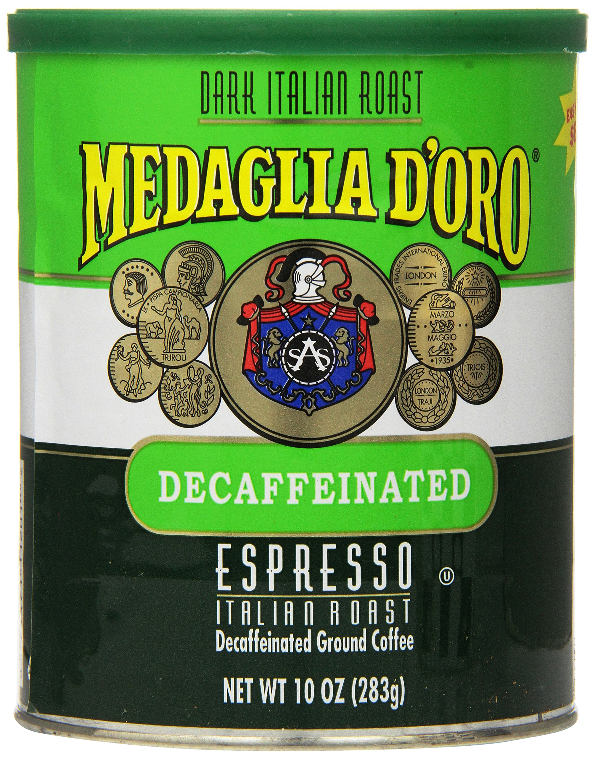 Medaglia D'Oro Italian Roast Decaffeinated Espresso Coffee, 10 Ounce