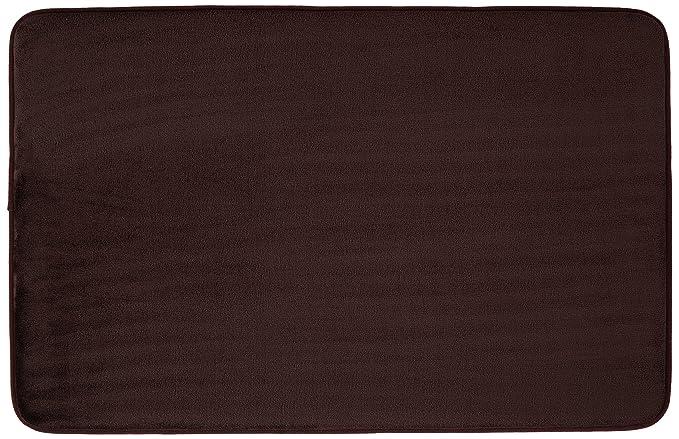 AmazonBasics - Alfombrilla de baño de espuma con memoria, 46 x 71 cm, marrón oscuro: Amazon.es: Hogar