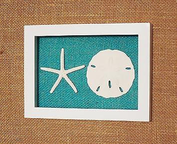 Oursin et étoile de mer Shadow Box Cadre, Shell Beach Art mural de ...