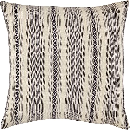 Amazon Brand Stone Beam Global Stripe Throw Pillow – 17 x 17 Inch, Navy