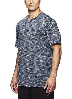 1ada88e7eea Reebok Men's Supersonic Crewneck Workout T-Shirt Designed with Performance  Material