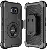 Note 5 Case, Galaxy Note 5 Holster case, SGM (TM) Hybrid Dual Layer Combo Armor Defender Protective Case With Kickstand + Belt Clip Holster For Samsung Galaxy Note 5 (Black)