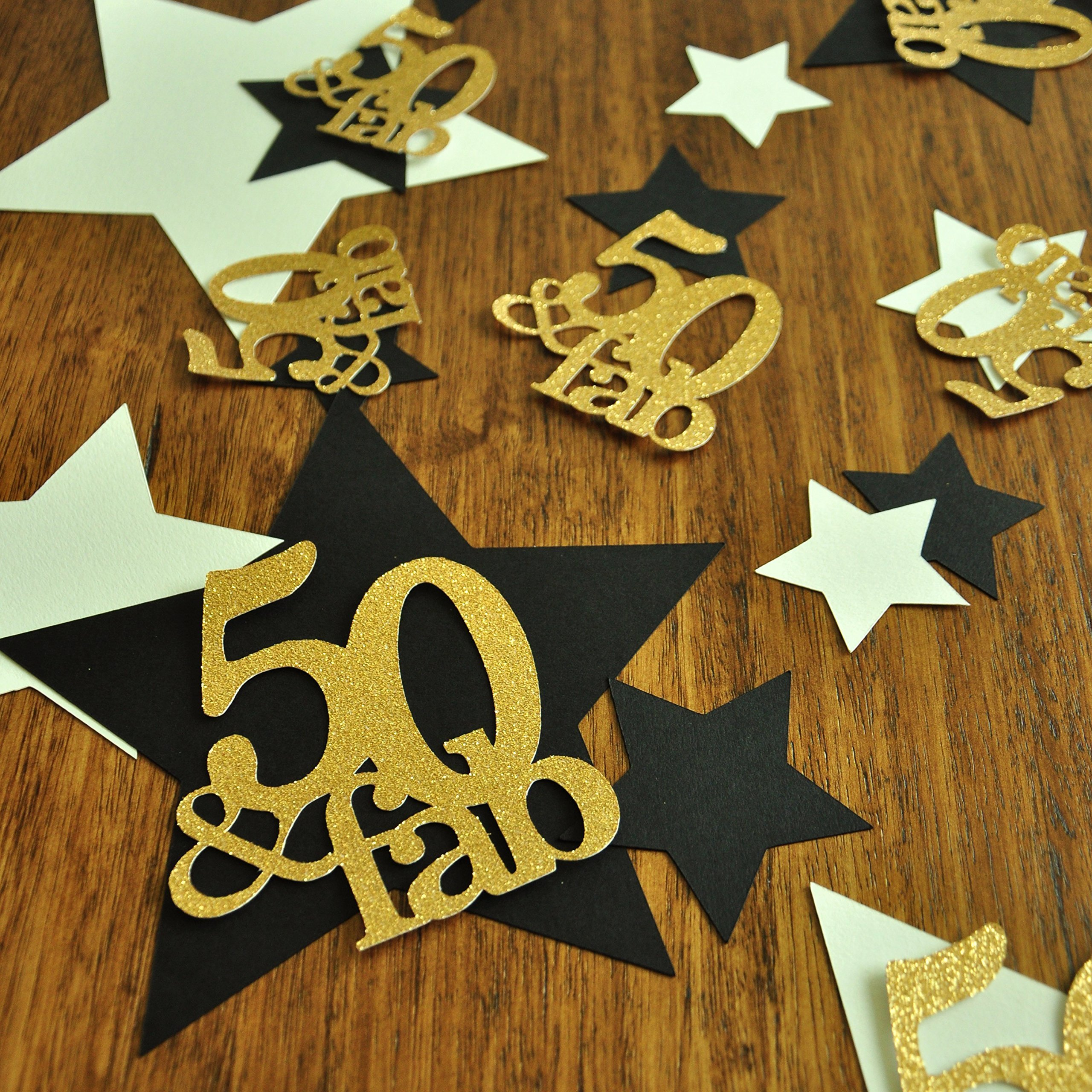 50 and Fabulous. 50th Birthday Decorations. 50 Birthday. Star Confetti. Large Table Confetti. 36CT.