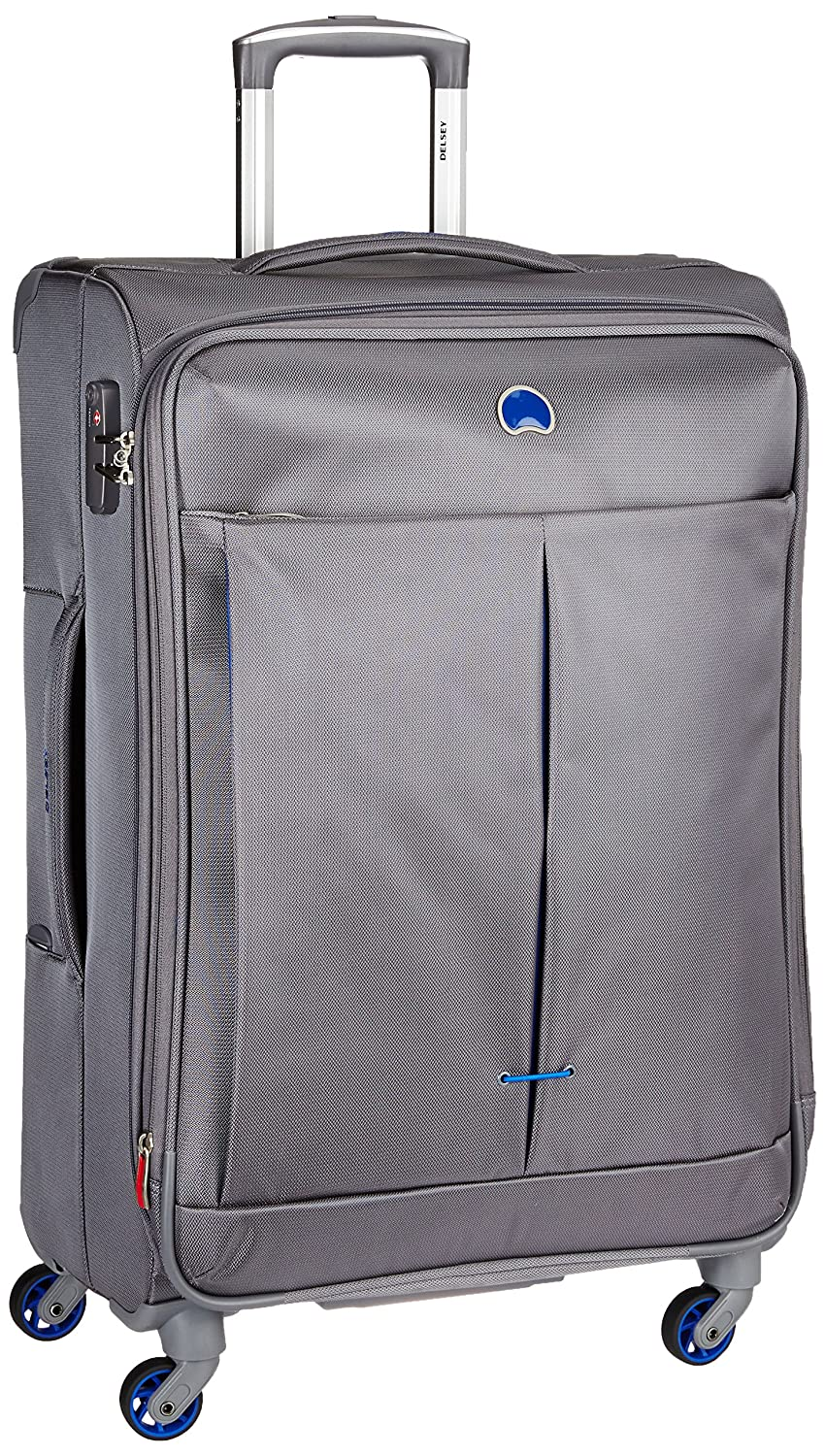 Delsey Polyester 82.5 cms Grey Soft Sided Suitcase (Air