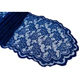 Goldstream Point Navy Blue 108 Inch X 13.5 Inch Lace Table Runner Wedding  Extra Long Roll
