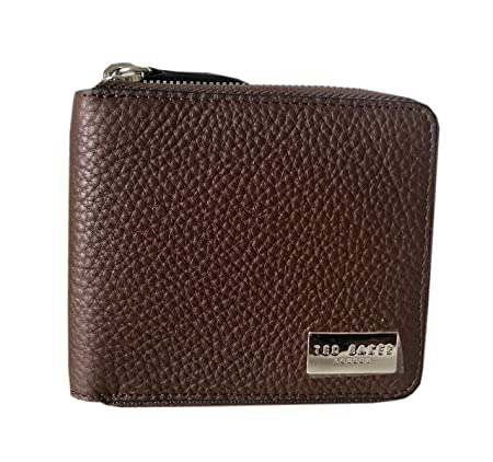 fb45df446 TED BAKER CORE Leather Tanned BI-FOLD Zip Wallet  Amazon.co.uk  Luggage