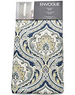 Envogue Damask Paisley Medallions Pair Of Curtains 2 Window Panels 50 By 96 Inch