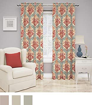 Traditions By Waverly 14975052084POP Dressed Up Damask 52 Inch 84 Single Window