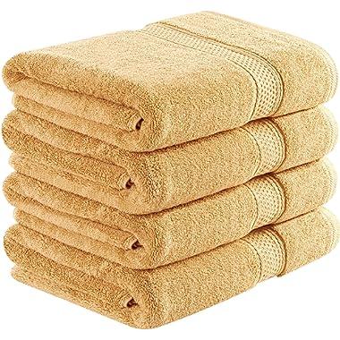 Utopia Towels 700 GSM Cotton 27-Inch-by-54-Inch  Bath Towel Set, Set of 4, Beige