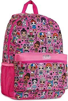L.O.L. Surprise! Mochila Niña Rosa con Muñecas LOL OMG, Mochilas Escolares Juveniles, Bolsa Infantil Guarderia, Accesorios Escolares LOL, Regalos para Niñas: Amazon.es: Equipaje