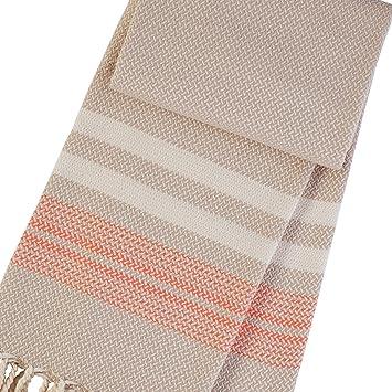 BAZAR Coffee/Orange toallas de baño - cuadros para el baño - toallas baño - toalla playa - toallas de mano - pareos playa toalla -: Amazon.es: Hogar
