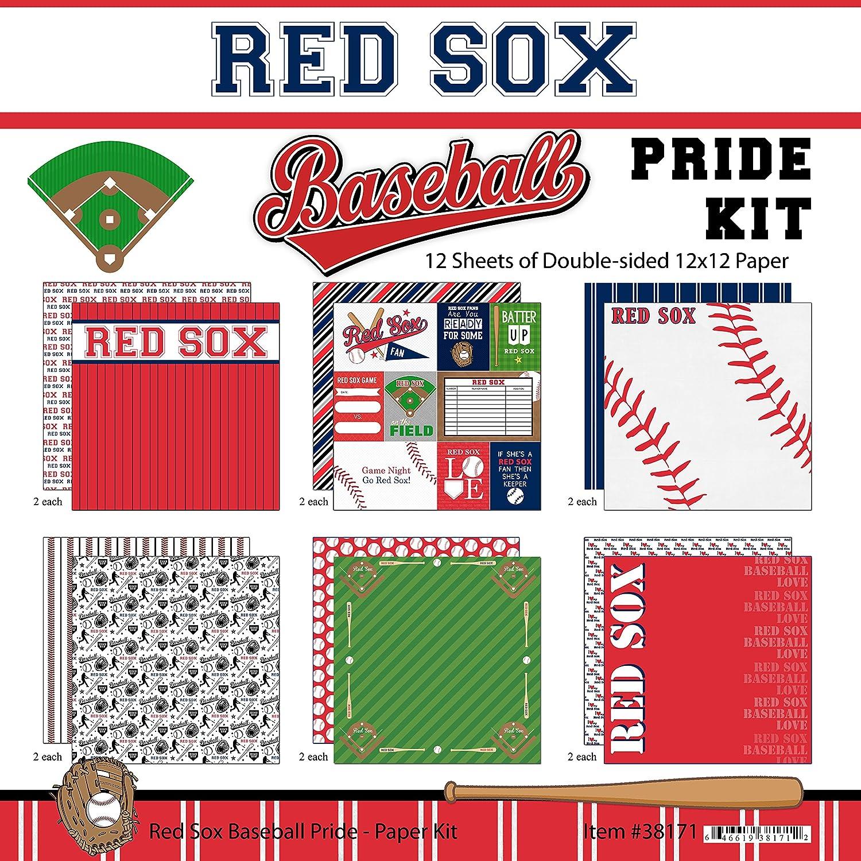 Scrapbook Customs Red Sox Pride Baseball Scrapbook Kit