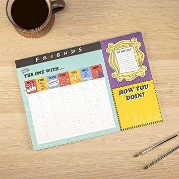 Calendrier Sictom.Friends Tv Sitcom Themed A3 Desk Planner Weekly Desk Note Pad 52 Pages Includes A Handy To Do List With Tear Off Pages