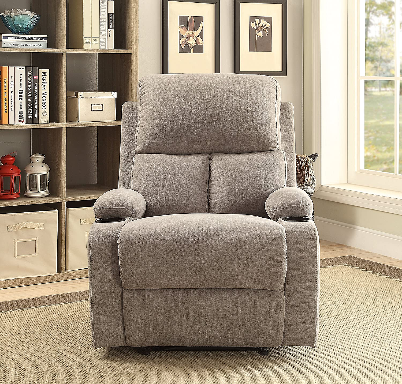 amazon com acme furniture 59551 rosia recliner one size beige rh amazon com