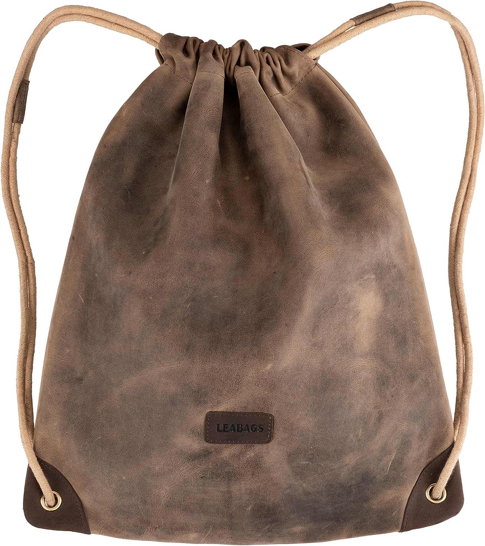 LEABAGS Florida Gym Bag en cuir de buffle v/éritable Style vintage