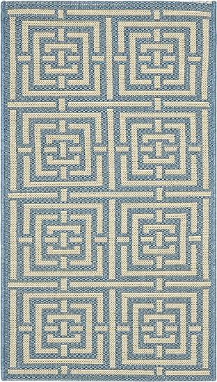 Amazon Com Safavieh Courtyard Collection Cy6937 Indoor Outdoor Non Shedding Stain Resistant Patio Backyard Accent Rug 2 X 3 7 Blue Bone Furniture Decor