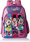 Minnie Polyester 18 Inch Purple and Pink Children's Backpack (Age group :8-12 yrs)