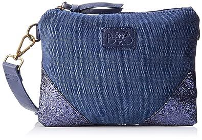 23c63eab20 Le Temps des Cerises femme Beverly 6 Pochettes Bleu (Bleu): Amazon.fr:  Chaussures et Sacs