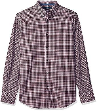 Perry Ellis Mens Big and Tall Long Sleeve Modern Geo Print Shirt/