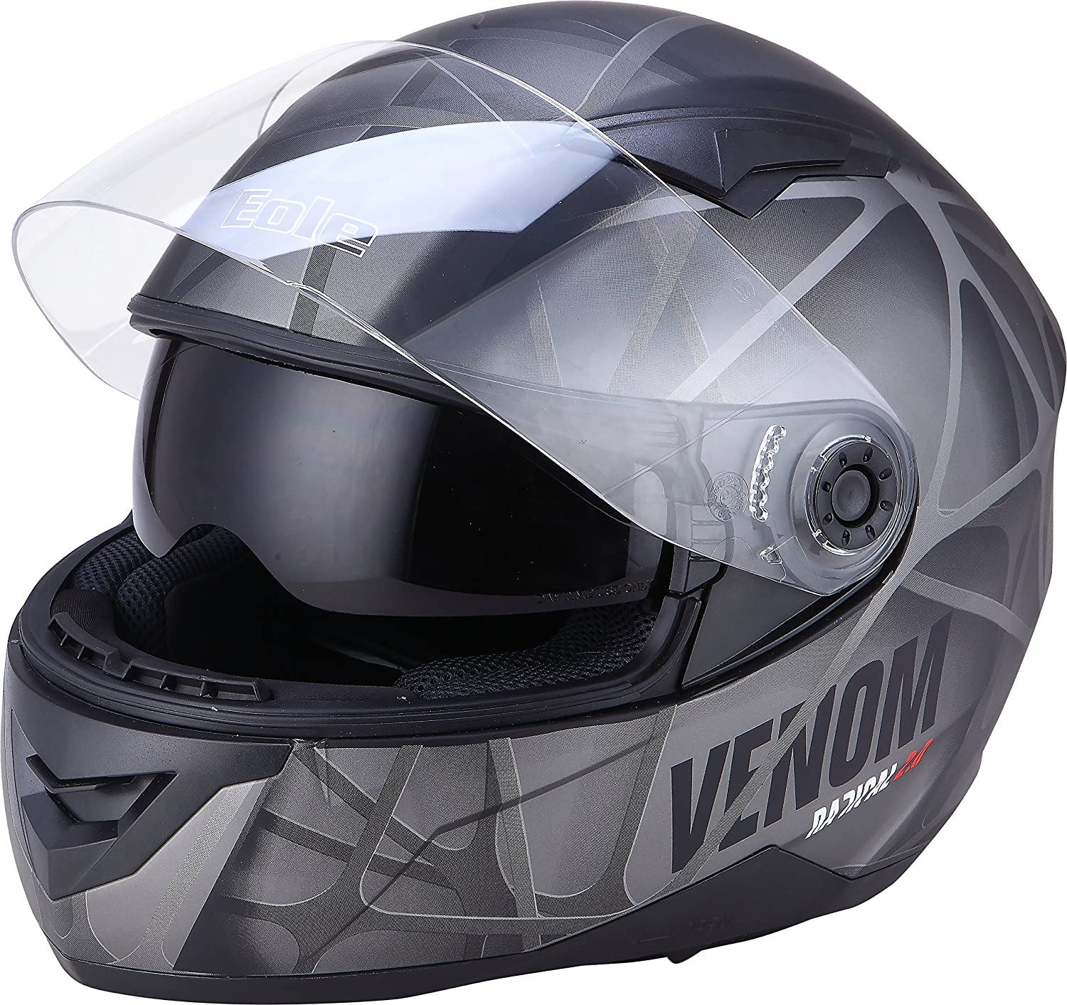 Amazon.es: EOEL casco integral DS Venom, gris, talla S