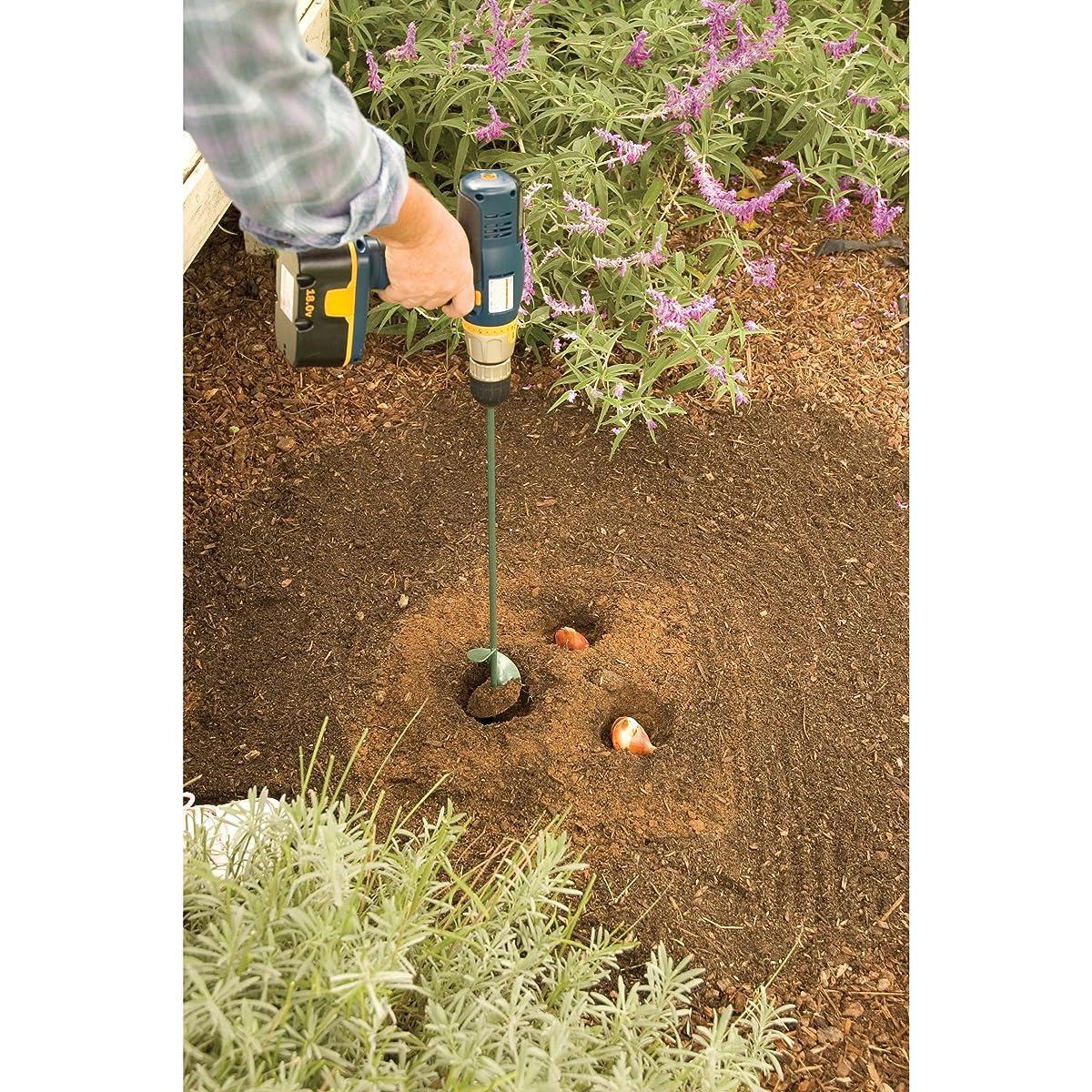 "Yard Butler Roto Planter 24 Inch Garden Bulb Planting Auger Cordless Drill Bit Soil Digging Attachment 2.75"" diameter – IRP-3"