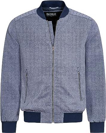Indicode Calaway – Chaqueta de algodón y lino para hombre, corte ...