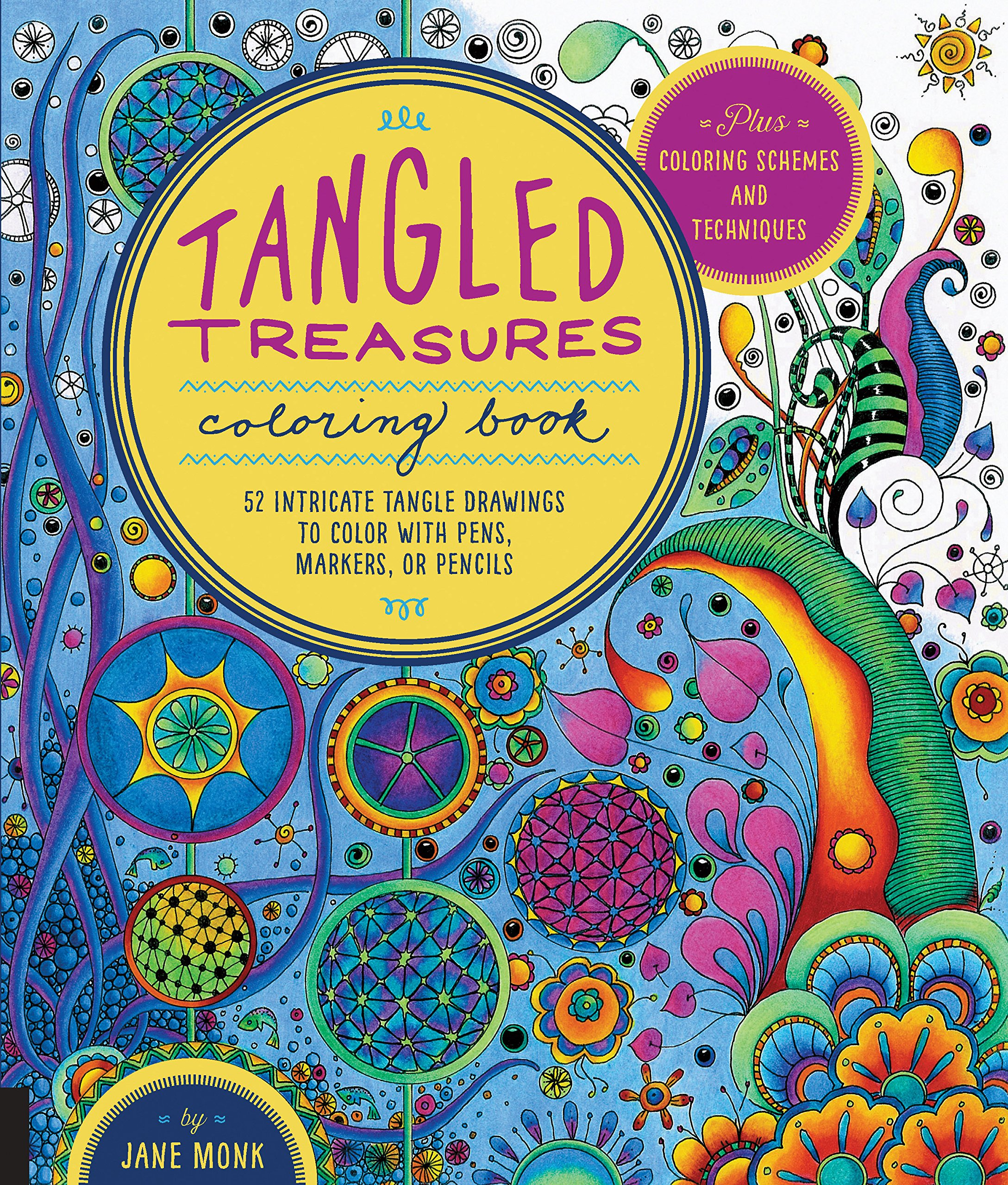 Tangled treasures coloring book 52 intricate tangle drawings to tangled treasures coloring book 52 intricate tangle drawings to color with pens markers or pencils plus coloring schemes and techniques tangled color fandeluxe Image collections