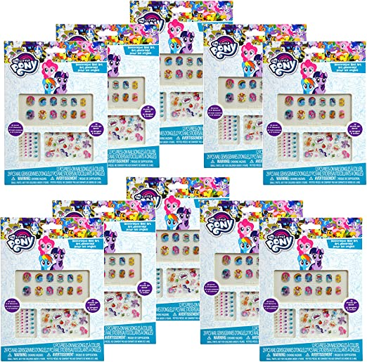 12 Pack, My Little Pony Nails Stickers & Art- Party Favors / Goody Bag: Amazon.es: Juguetes y juegos
