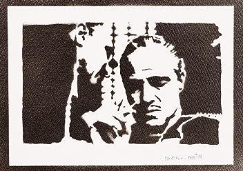 Póster El Padrino (The Godfather Don Vito Corleone) Grafiti Hecho A Mano - Handmade Street Art - Artwork