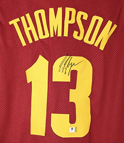 sale retailer 238aa 53ddb Tristan Thompson Cleveland Cavaliers Signed Autographed Red ...