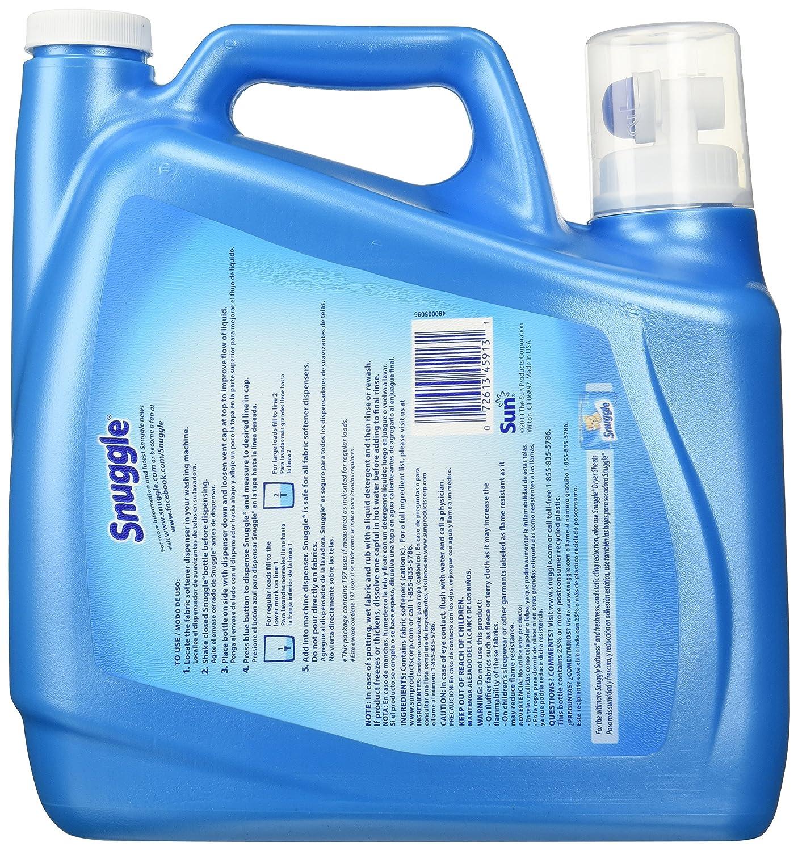 Amazon.com: Snuggle Fabric Softener, Blue Sparkle, 197 Load/157.6 Fluid Ounce: Health & Personal Care