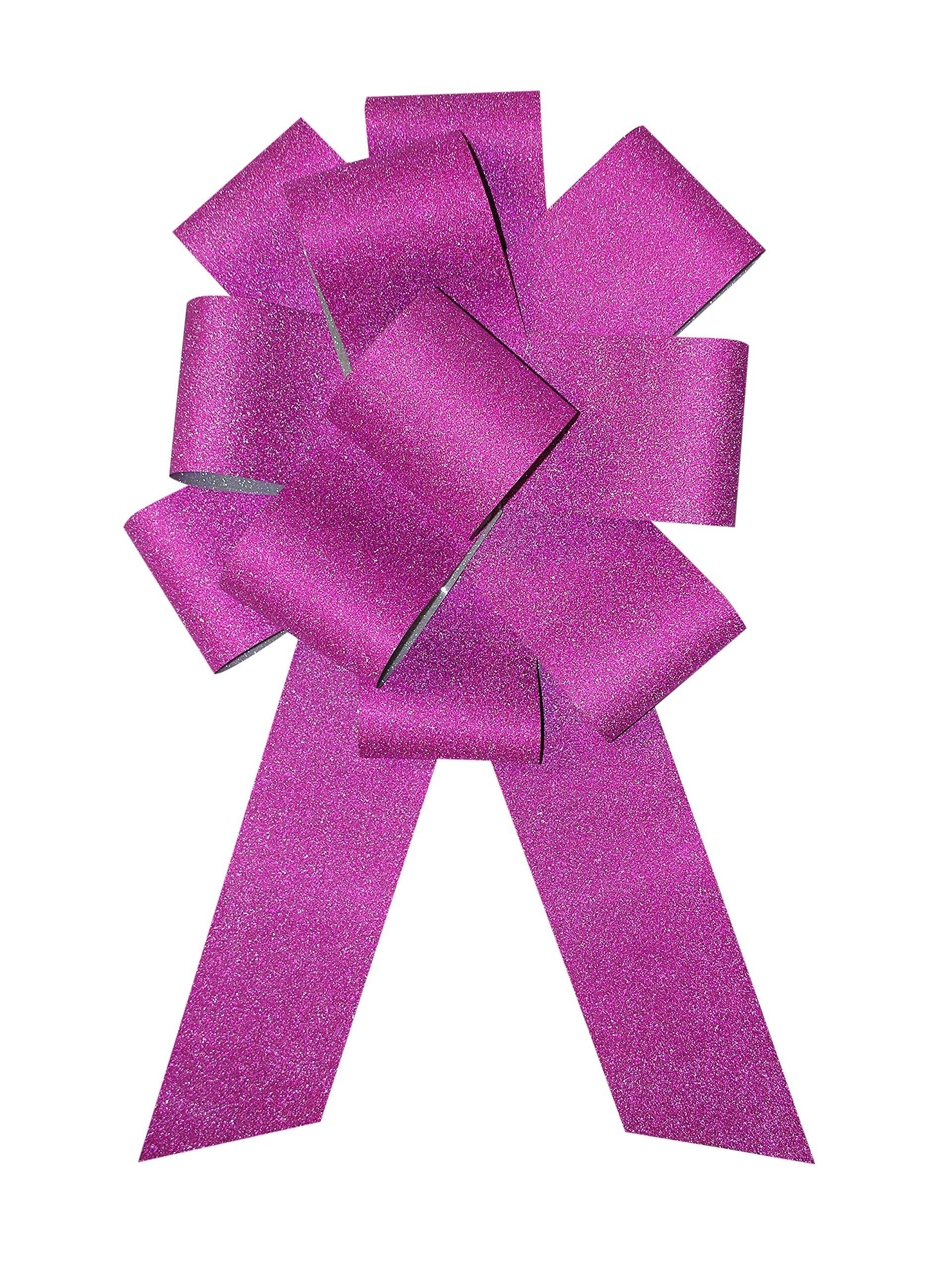 Forum Diamond Ribbon Car Bow, 25'', Hot Pink