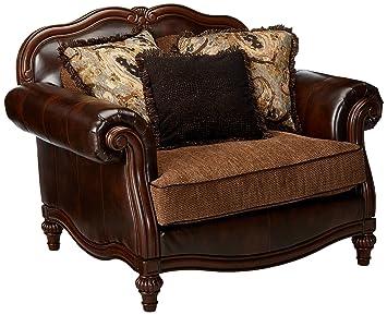 Peachy Ashley Furniture Signature Design Winnsboro Chair A Half Traditional Vintage Brown Lamtechconsult Wood Chair Design Ideas Lamtechconsultcom