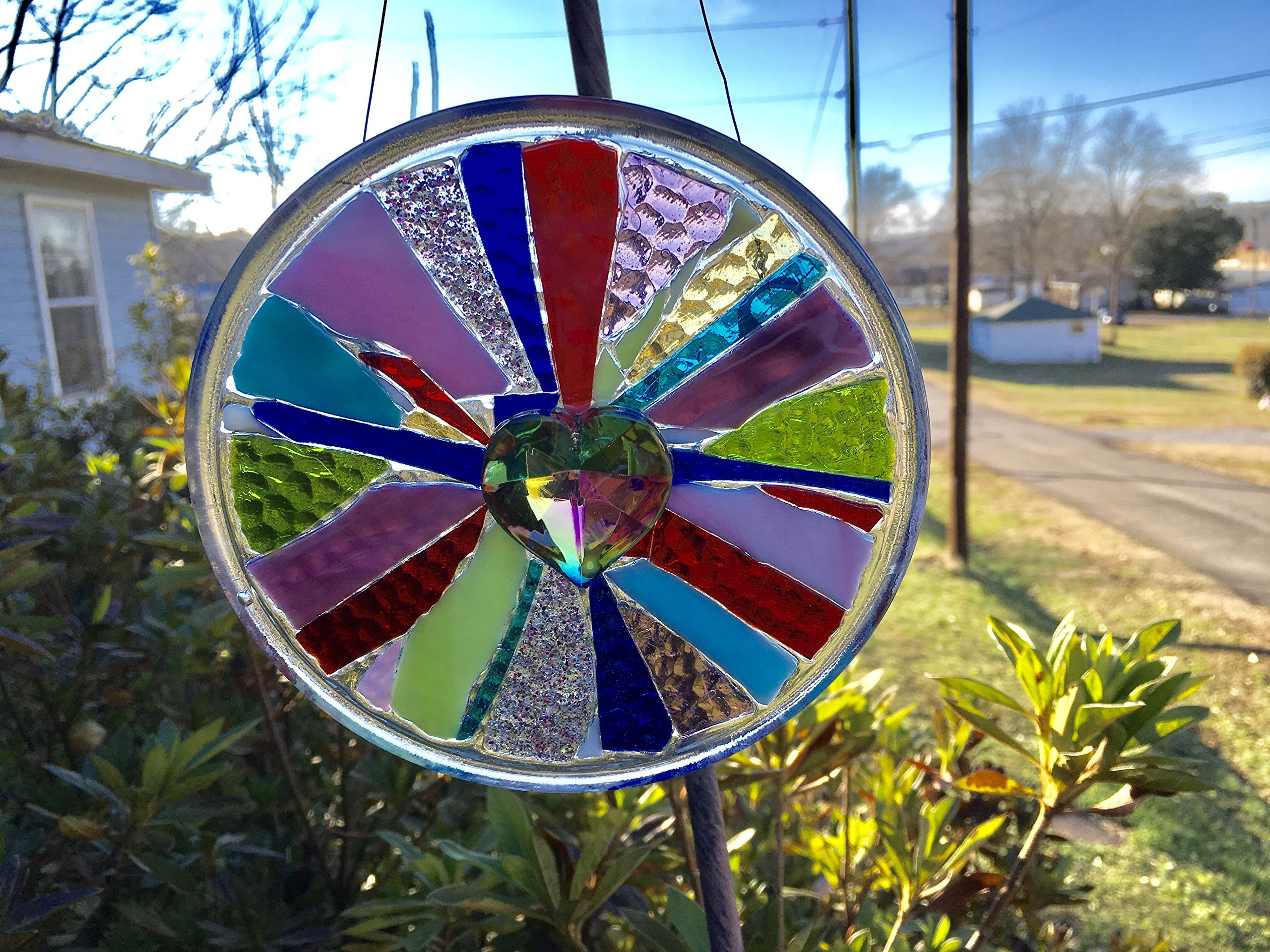 Heart Stained Glass Window Art sun catcher