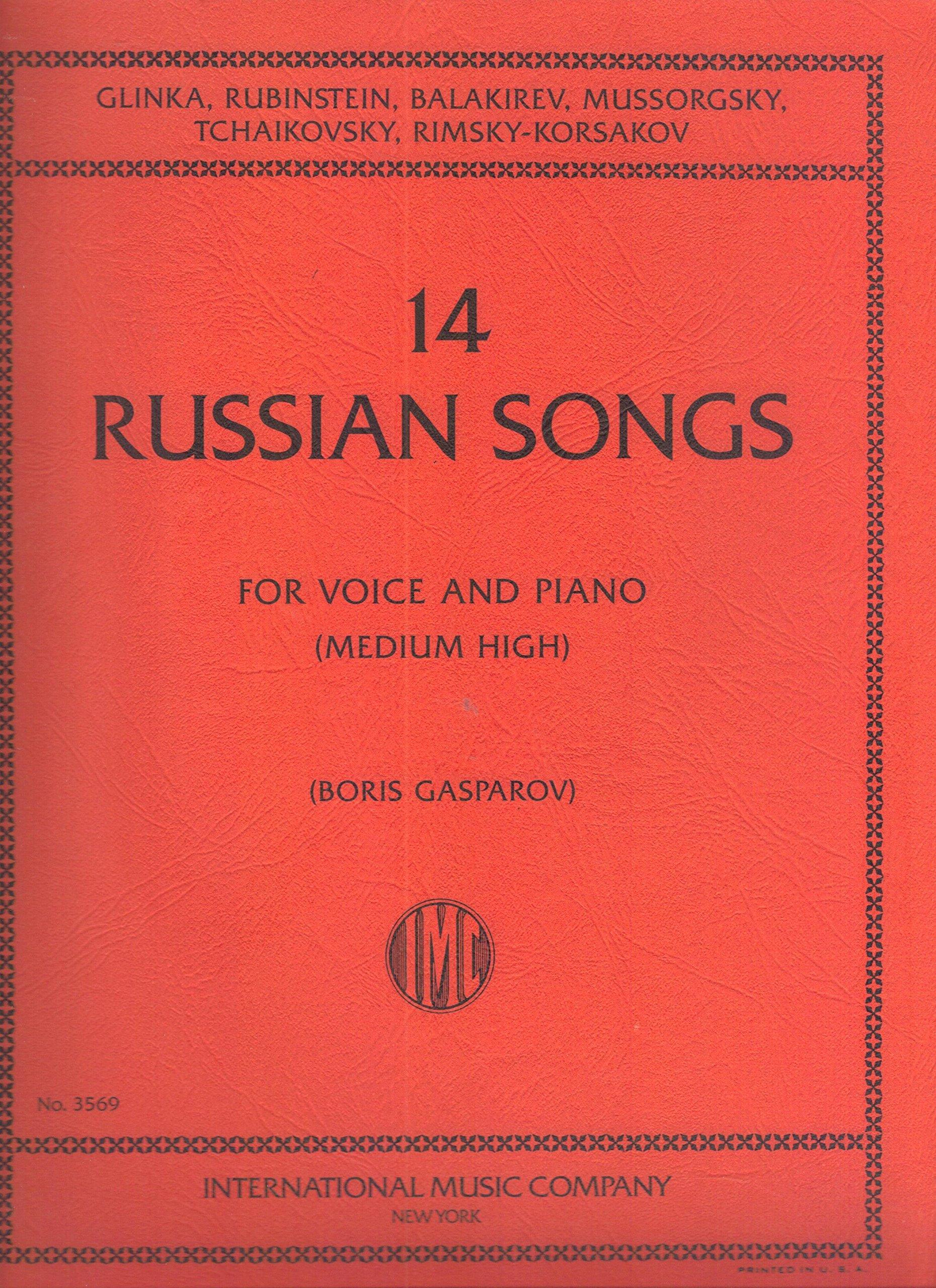 14 RUSSIAN SONGS, medium high voice & piano, Gasparov 3569 PDF